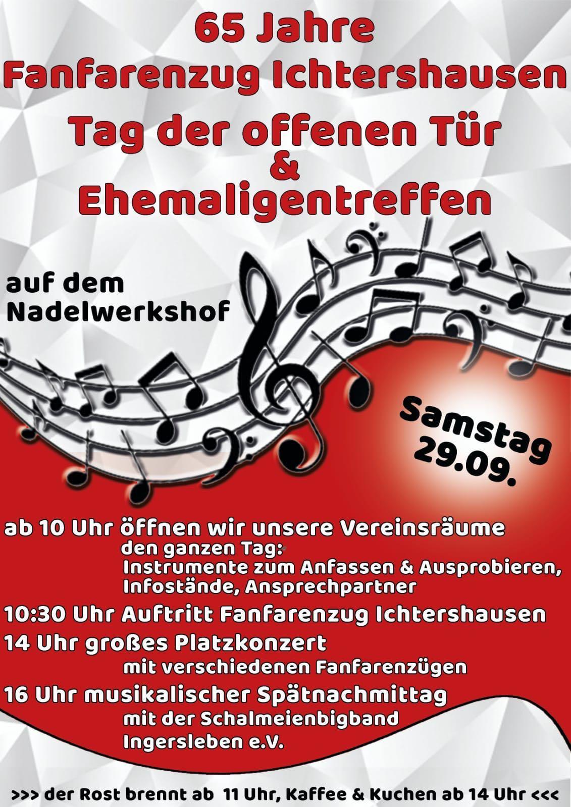 65 Jahre Fanfarenzug Ichtershausen - 65 Jahre Fanfarenzug Ichtershausen e. V.